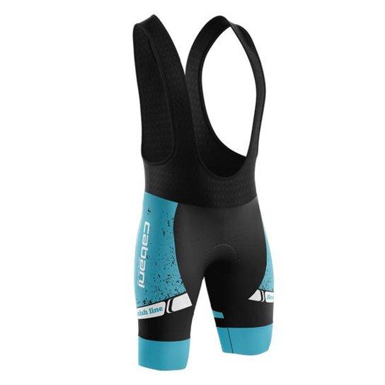 Bretelle Ciclismo Poliamida e Elastano Cabani Sports Estampado Masculino - Azul