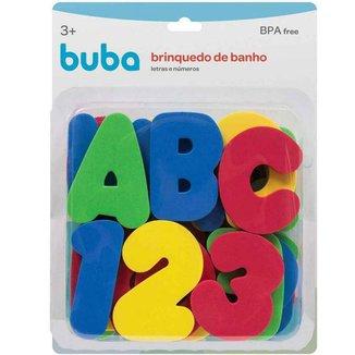 Brinquedo De Banho Letras E Numeros Buba 3+
