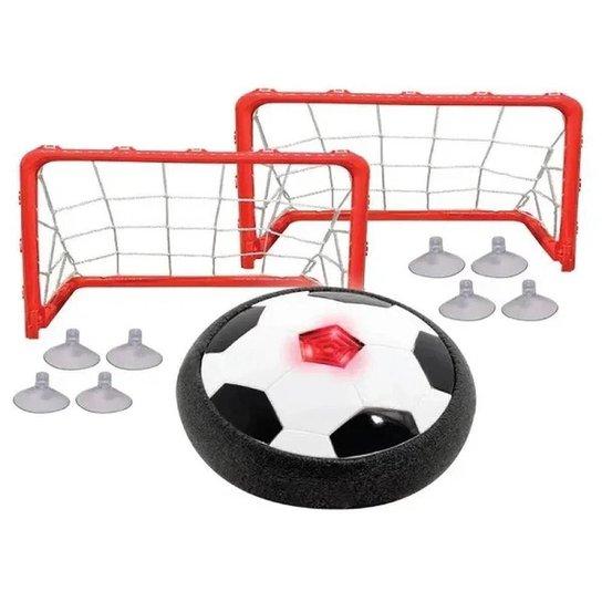 Brinquedo Kit Air Soccer Disco Flutuante com Luze - Vermelho