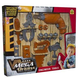 Brinquedo Mega Oficina Samba Toys Cinza/Marrom -
