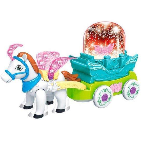 Brinquedo Musical Carruagem Bate e Volta Musical - Colorido