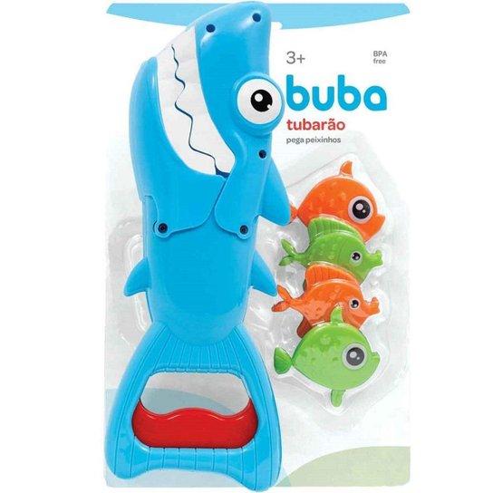 Brinquedo para Banho Tubarão Pega Peixinhos Buba - Azul