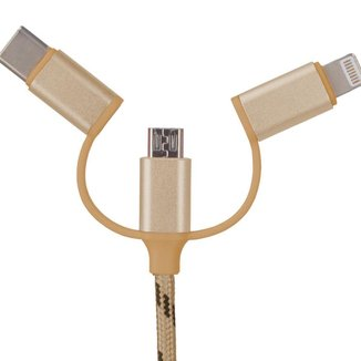 Cabo Carregador USB para Celular Android e Iphone - 1 Metro - Polo King