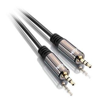 Cabo de Áudio P2 para P2 Macho - Stereo - 1.5 metros - Premium - Preto - Elgin 46RCAUDIO350