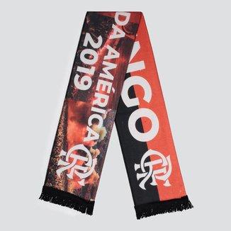 Cachecol Flamengo Bicampeão da América Vermelho