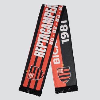 Cachecol Flamengo Heptacampeão Vermelho e Preto