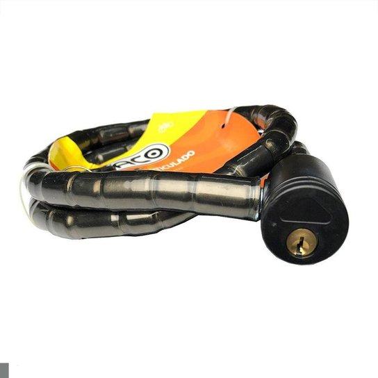 Cadeado Anti Furto Articulado Bicicleta Moto Paco - Preto