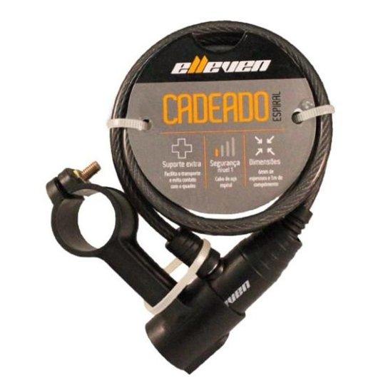 Cadeado Elleven Espiral 1mx6mm Com Chave - Incolor