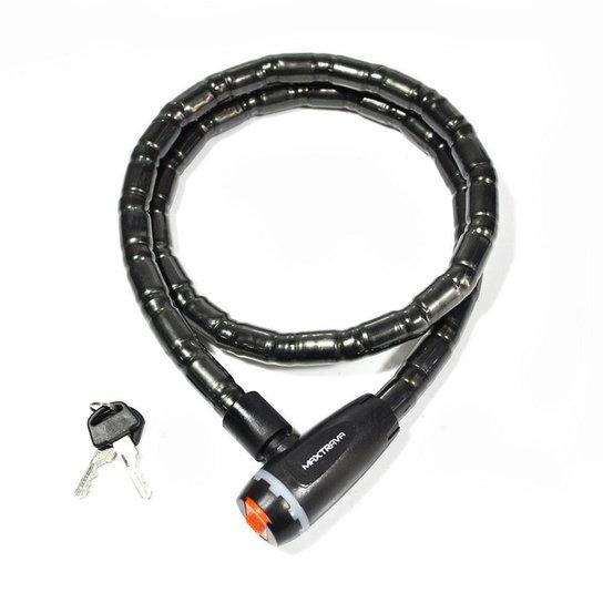 Cadeado Maxtrava Articulado Com Chave 18 Mm X 1200 Mm - Preto