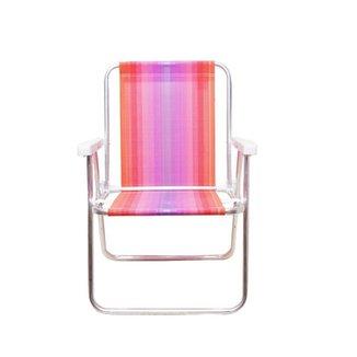 Cadeira Alta Mor Roxo e Laranja Alumínio Ref.2101