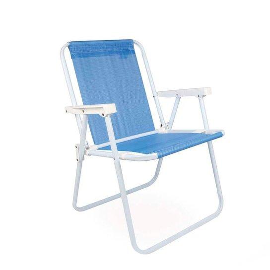 Cadeira Alta - Azul Royal