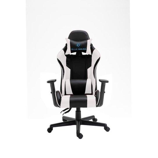 Cadeira de escritório Gamer Ergonômica Giratória Reclinável 180 Graus - Branco+Preto