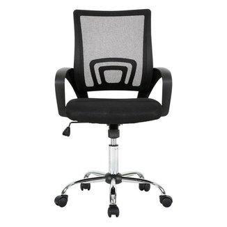 Cadeira de Escritório Multilaser Executive Cromada Giratória - GA197