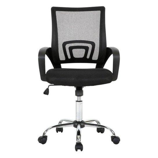 Cadeira de Escritório Multilaser Executive Cromada Giratória - GA197 - Preto