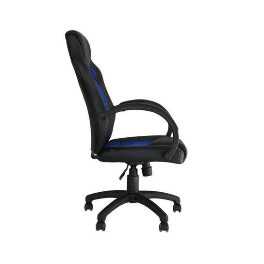 Cadeira de Escritório Office Racer Preta com Azul - Preto+Azul