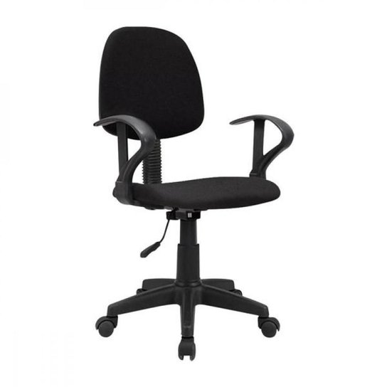 Cadeira de escritório Start Giratória Preta Multilaser - GA209 - Preto