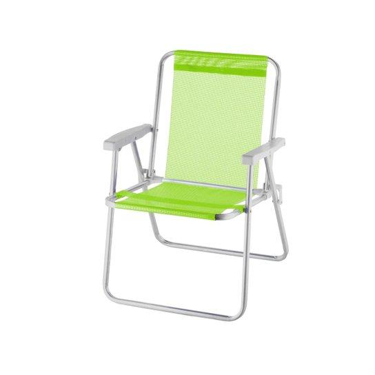 Cadeira De Praia Alta Alumínio Beach Premium - Verde