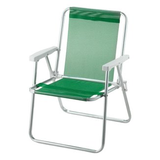 Cadeira De Praia Alta Alumínio Beach Premium