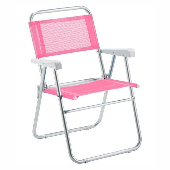Cadeira De Praia Amvc Sun Aluminio - Rosa