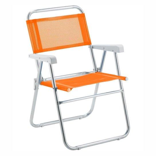 Cadeira De Praia Amvc Sun Aluminio - Laranja