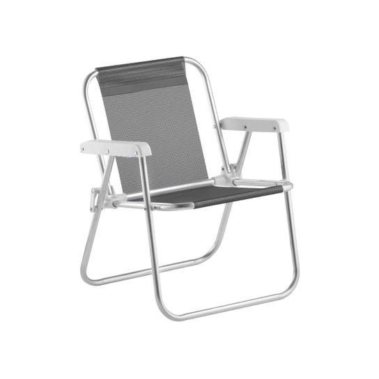 Cadeira De Praia Infantil Beach Kid´S Alumínio - Preto