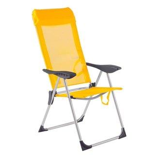 Cadeira De Praia Piscina Alumínio 5 Posições Bel