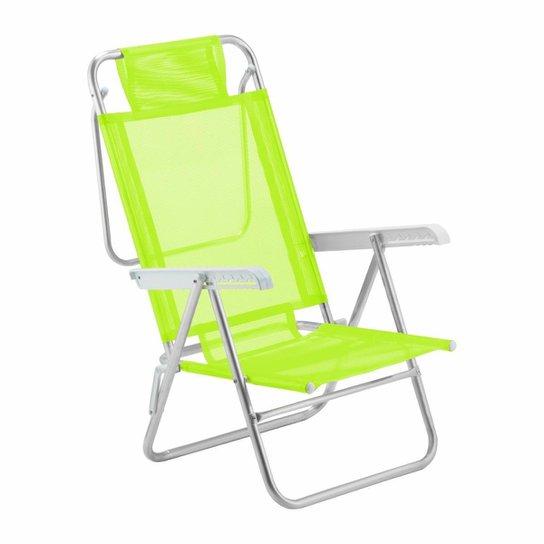 Cadeira De Praia Reclinável Sun Glow Alumínio - Verde