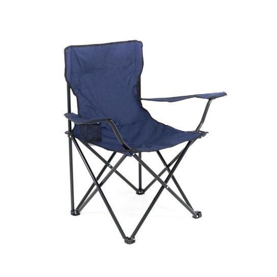 Cadeira Dobrável Camping Pesca Porta Copo Camuflada BelLazer - Marinho