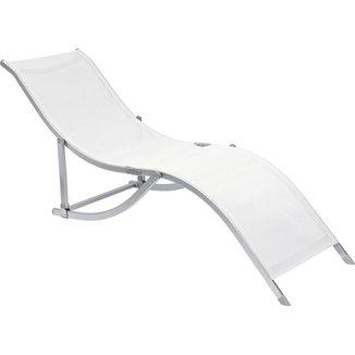 """Cadeira Espreguiçadeira Bel Lazer """"S"""" Alumínio"""