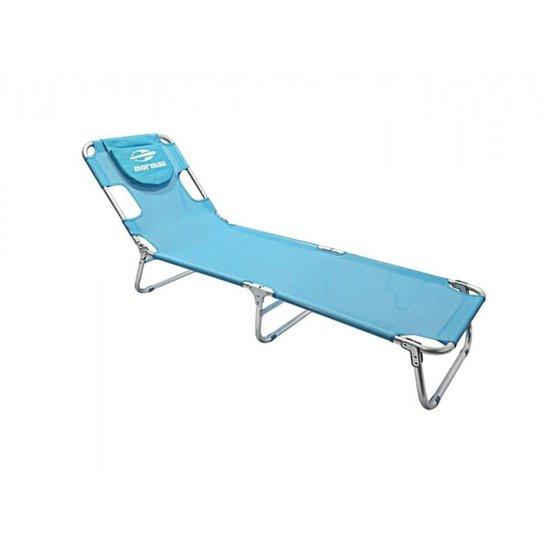 Cadeira Espreguiçadeira em Alumínio Mormaii - Azul Turquesa