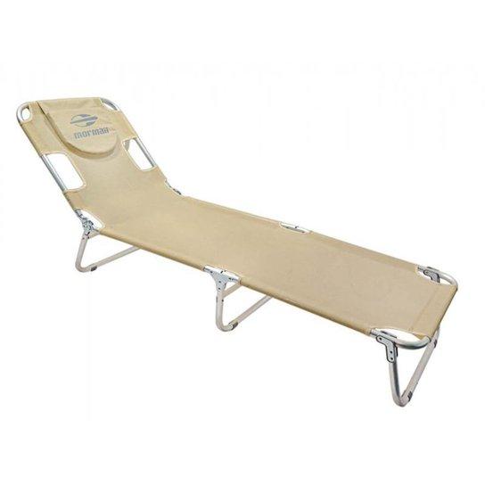 Cadeira Espreguiçadeira em Alumínio Mormaii - Areia