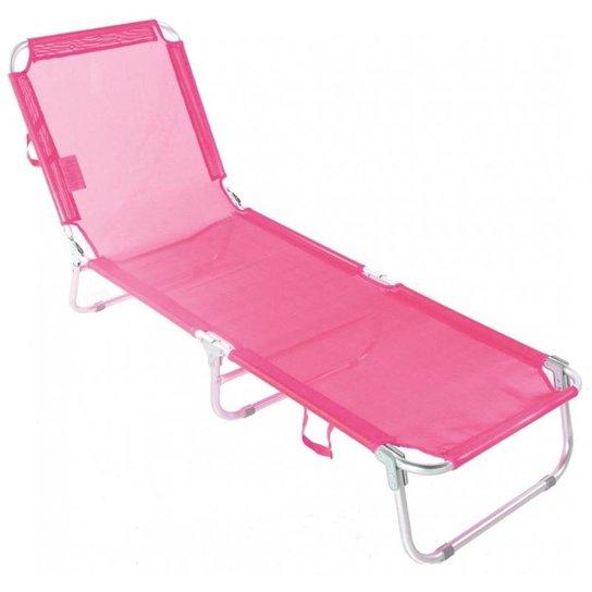 Cadeira Espreguiçadeira Textilene Alumínio 5 posições Bel Lazer - Rosa