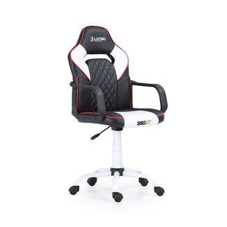 Cadeira Gamer 350GT X10 Estrutura Esportiva Ergonômica Assento 360° Braços Fixos Black/White