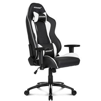 Cadeira Gamer AKRacing Nitro - Reclinável 180° - Construção em Aço - Preta e Branca - 10027-0
