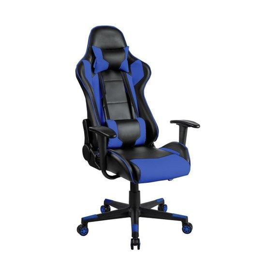 Cadeira Gamer Blue Waves Ergonômica Giratória Reclinavél - Azul