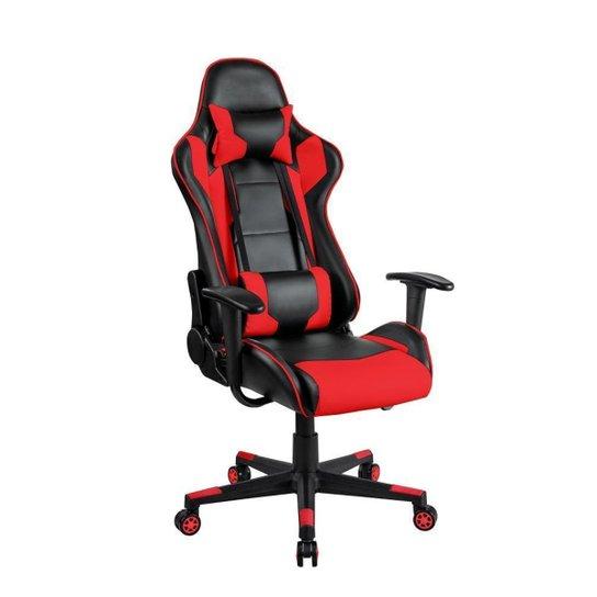 Cadeira Gamer Blue Waves Ergonômica Giratória Reclinavél - Vermelho