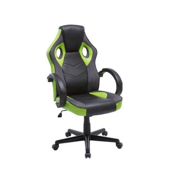 Cadeira Gamer em Couro PU Pelegrin PEL-3016 Preta e Verde - Verde