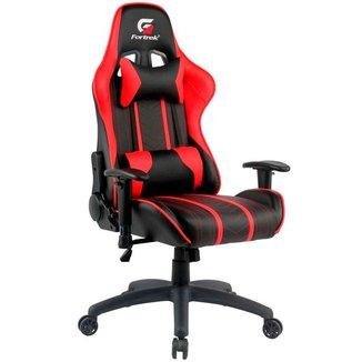Cadeira Gamer Fortrek Black Hawk - Encosto Reclinável 155° - Preta e Vermelha - 70510