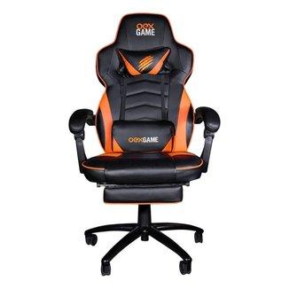Cadeira Gamer Gc302 Estofado Ajustavél 120kg Preto E Laranja