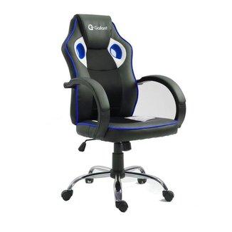 Cadeira Gamer Giratória c/ Altura Regulável Gallant PT/AZ