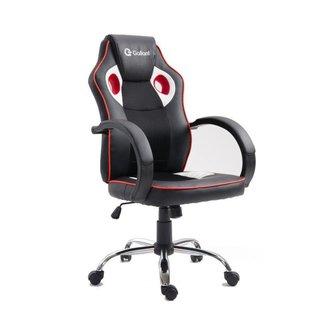 Cadeira Gamer Giratória c/ Altura Regulável Gallant PT/VM
