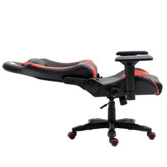 Cadeira Gamer Kids Raven X-10 Estrutura em metal braço 4D encosto reclinável até 180° Preta Vermelha