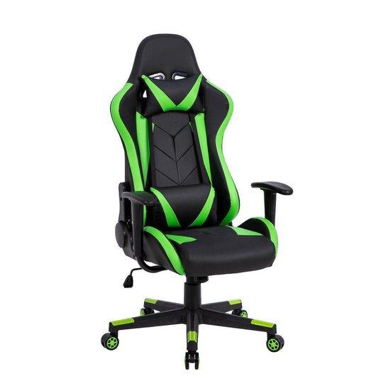 Cadeira Gamer Pelegrin em Couro PU Reclinável PEL-3019 Preta e Verde - Verde
