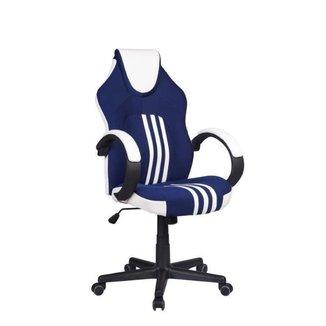 Cadeira Gamer Pelegrin PEL-3005 Azul, Branca e Preta
