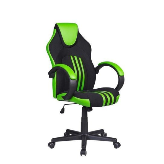 Cadeira Gamer Pelegrin PEL-3005 Preta e Verde - Verde