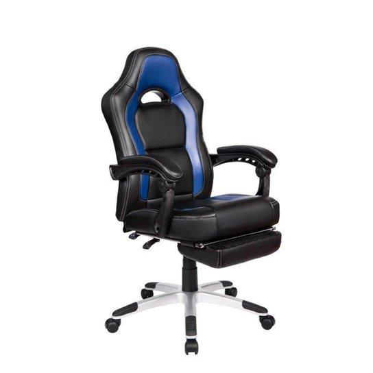 Cadeira Gamer Pelegrin PEL-3006 Couro PU Preto e Azul - Azul