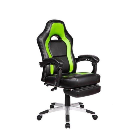 Cadeira Gamer Pelegrin PEL-3006 Couro PU Preto e Verde - Verde