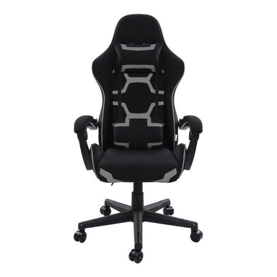 Cadeira Gamer Pelegrin Reclinável PEL-3018 Preta e Cinza - Cinza