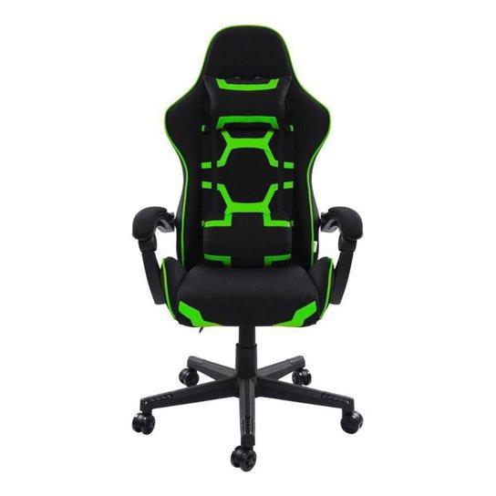 Cadeira Gamer Pelegrin Reclinável PEL-3018 Preta e Verde - Verde