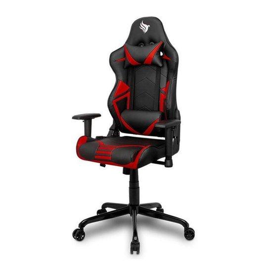 Cadeira Gamer Pichau Stellar Vermelha, BY-1028RED - Vermelho+Preto